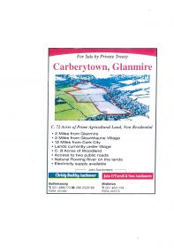 Carberytown Glanmire C. 72 Acres of Prime Agricultural Land, Non Residential